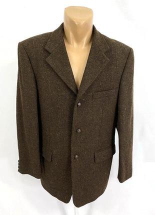 Пиджак harris tweed, твидовый эксклюзивный, коричневый