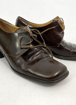 Туфли стильные кожаные jan baran, italy, коричн