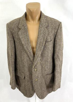 Пиджак твидовый harris tweed, made in france