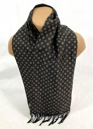 Шарф качественный, стильный шарф, черный