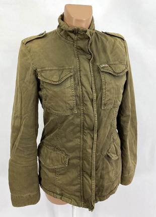 Куртка винтажная, стильная, napapijri, хлопок