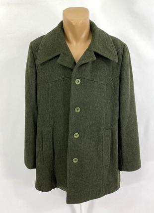 Пальто фирменное levis, зеленое, шерстяное