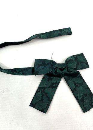 Бабочка стильная, зеленая, polyester, made in france