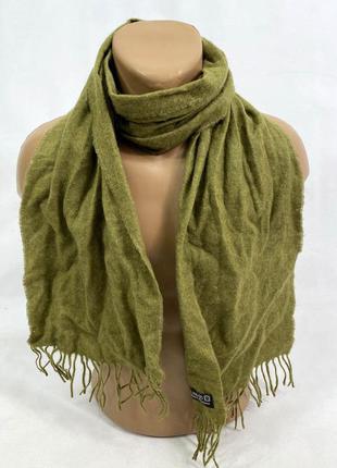 Шарф шерстяной, зеленый, 100% wool