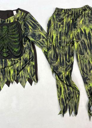 """Костюм карнавальный для хелоуина, """"зеленый скелет"""""""
