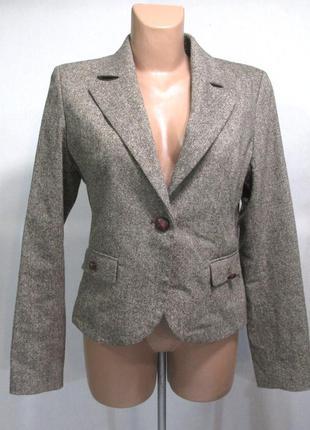 Пиджак only, m (40) шерсть-шелк, как новый!