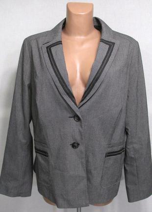 Стильный пиджак promiss, 48 (xl, 20), новый!