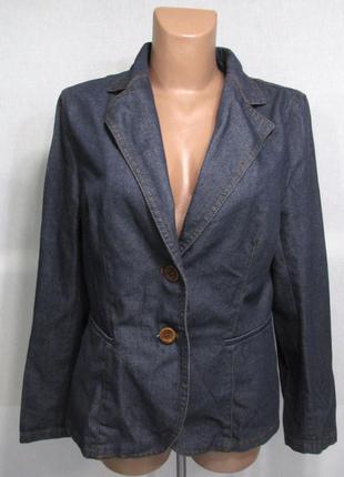 Пиджак джинсовый zara basic, 44 (16), как новый!