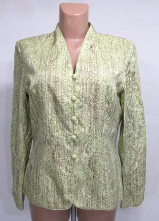 Пиджак шелковый adrianna papelli, 8, как новый!