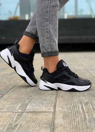 Nike m2k tekno black/white шикарные женские кроссовки найк тек...