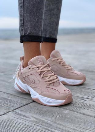 Nike m2k tekno pink/white шикарные женские кроссовки гайк текн...