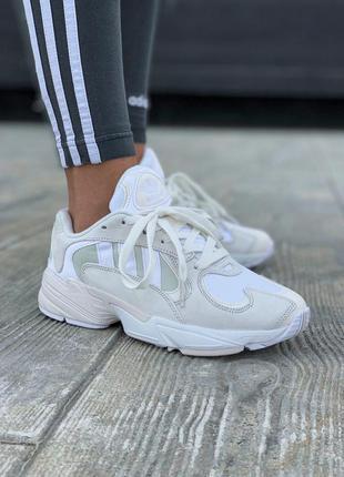 Adidas yung 1 white/beige шикарные женские кроссовки адидас юн...