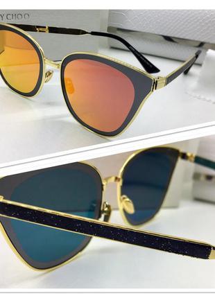 Женские зеркальные солнцезащитные очки jimmy choo