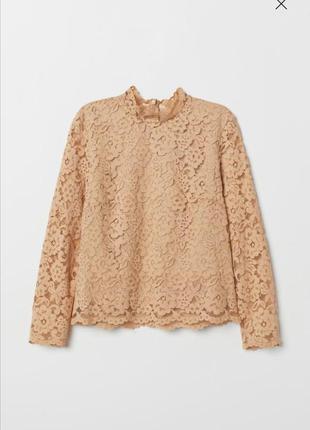 Кружевная блуза рубашка h&m