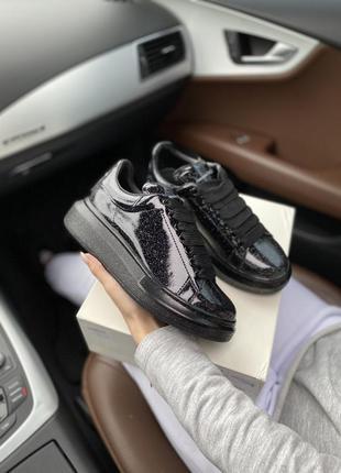 Alexander mcqueen black galaxy шикарные женские кроссовки