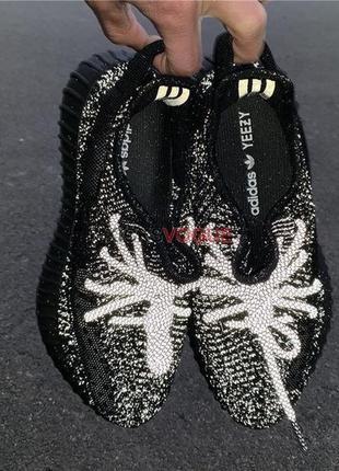 Adidas yeezy boost 350 black шикарные женские кроссовки адидас...