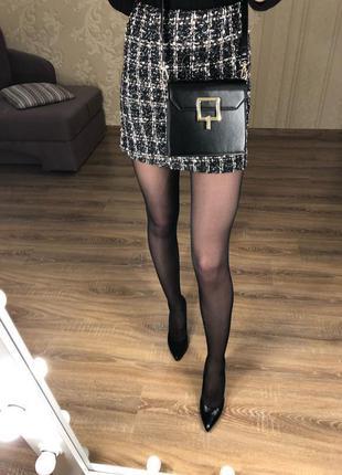 Твидовая мини-юбка с мелкими пайетками; +++подарок!!! primark