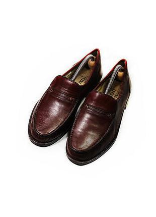 Мужские кожаные туфли лоферы calsature marconcini италия