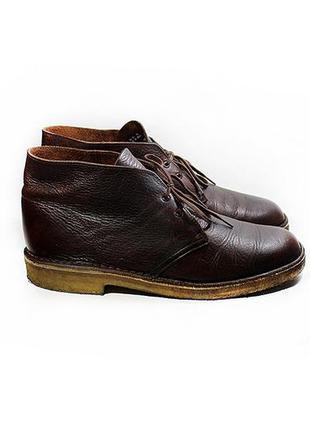 Мужские кожаны ботинки дезерты clarks оригинал