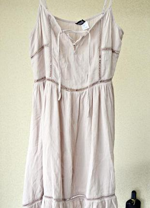 Очень милое пудровое платье фирмы dividedby h&m