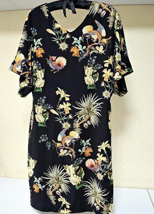 Очень красивое платье миди в цветочный принт фирмы steps every...