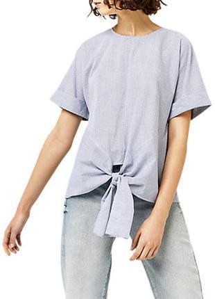 Шикарная котоновая блуза в полоску бренд  warehouse