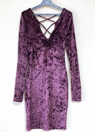 Бархатное платье primark