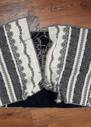 Шикарный двухсторонний  шерсть с кашемиром шарф / палантин с о...
