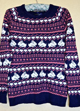 Очень милый с орнаментом свитерок, теплый, фирмы atmosphere