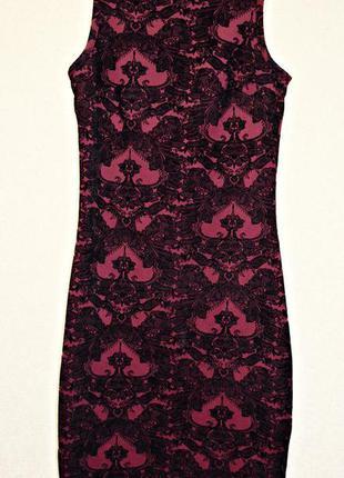 Шикарное и очень красивое бордовое платье с черным бархатным н...