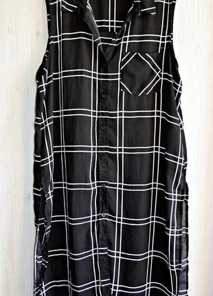 Очень крутое шифоновое платье- рубаха фирмы amisu