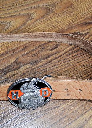 Очень крутой из натуральной кожи ремень motor harley-davidson ...