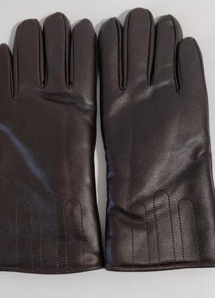 Зимние перчатки (искусственная кожа)