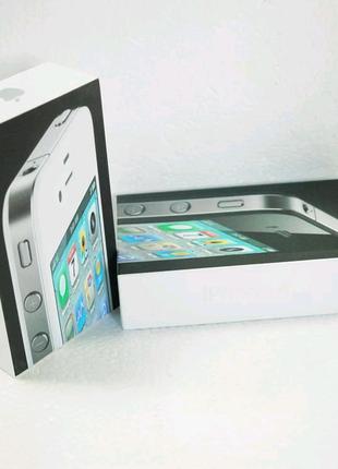 Apple Iphone 4 8gb cdma с коробкой, чистый icloud,black whihe!