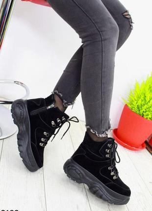 Замшевые демисезонные кроссовки в стиле buffalo, спортивные бо...
