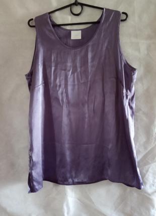 Атласний топ-майка блуза