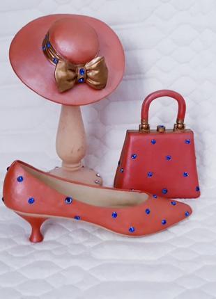 коллекционный набор туфелька, сумочка, шляпка Leonardo Collection