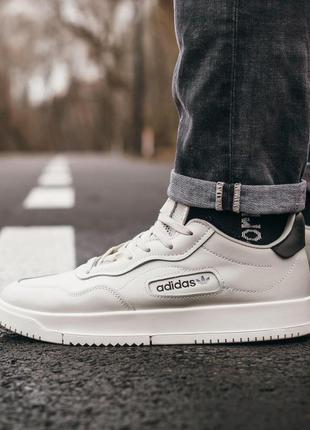 Шикарные мужские кожаные кроссовки adidas 😍 (весна/ лето/ осень)