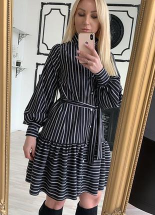 Легкое, весеннее платье в полоску