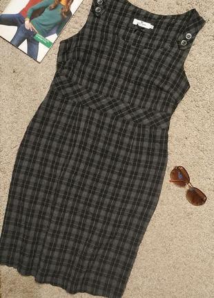 Tom tailor оригинал актуальное платье в клетку /тренд!