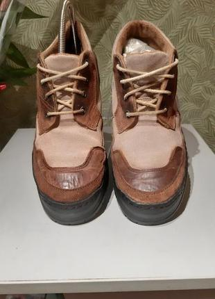 Ботинки мужские, кожаные + замша 42р италия