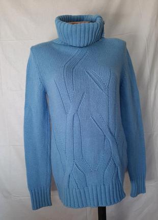 Кашемировый свитер водолазка  высокое горло  италия мериносовы...