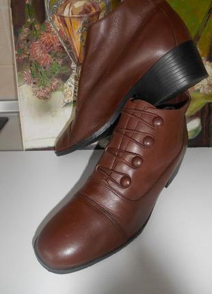 #nicole#кожаные ботинки в ретро стиле #полусапожки #