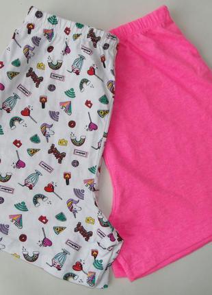 Набор 2 ед пижама пижамные шорты 11-12 лет primark 152 см