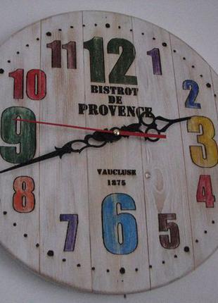 """Винтажные часы из натурального дерева- """"Прованс"""""""