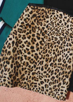 Тотальная распродажа! осенняя юбка с актуальным леопардовым пр...