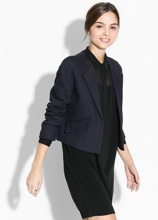 Брендовый темно-синий коттоновый пиджак жакет блейзер с карман...