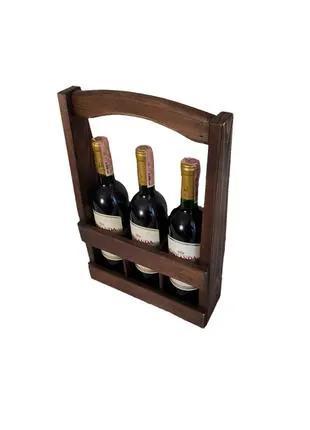 Ящик для вина из натурального дерева