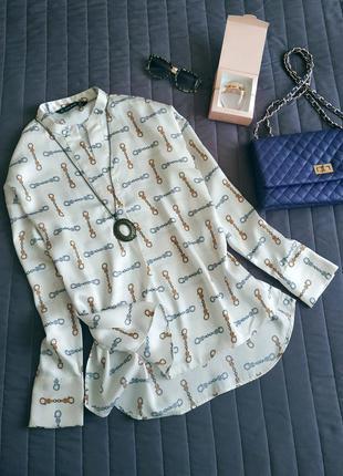 Рубашка, удлиненная спинка
