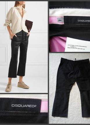 Трендовые укороченные шелковые брюки dsquared2